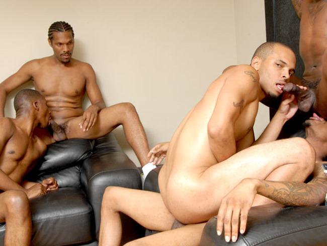 thug orgy fivesome bareback